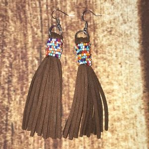 Lovely hand crafted leather earrings